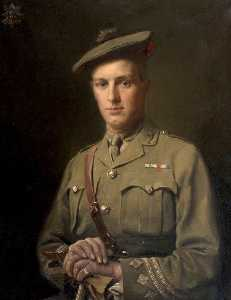 Order Art Reproduction : Captain Talbert Stevenson, MC and Bar 4th 5th Battalion The Black Watch (killed in action, 14th November 1917) by Anton Abraham Van Anrooy | WahooArt.com