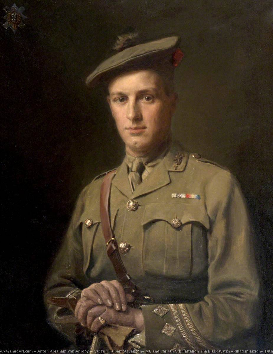 Captain Talbert Stevenson, MC and Bar 4th 5th Battalion The Black Watch (killed in action, 14th November 1917) by Anton Abraham Van Anrooy | WahooArt.com