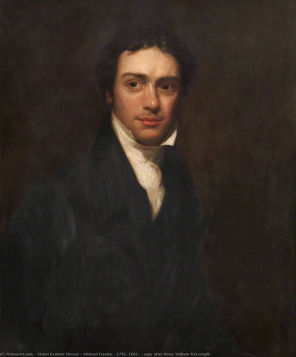 Michael Faraday (1791–1867) (copy after Henry William Pickersgill), 1931 by Mabel Beatrice Messer | Painting Copy | WahooArt.com
