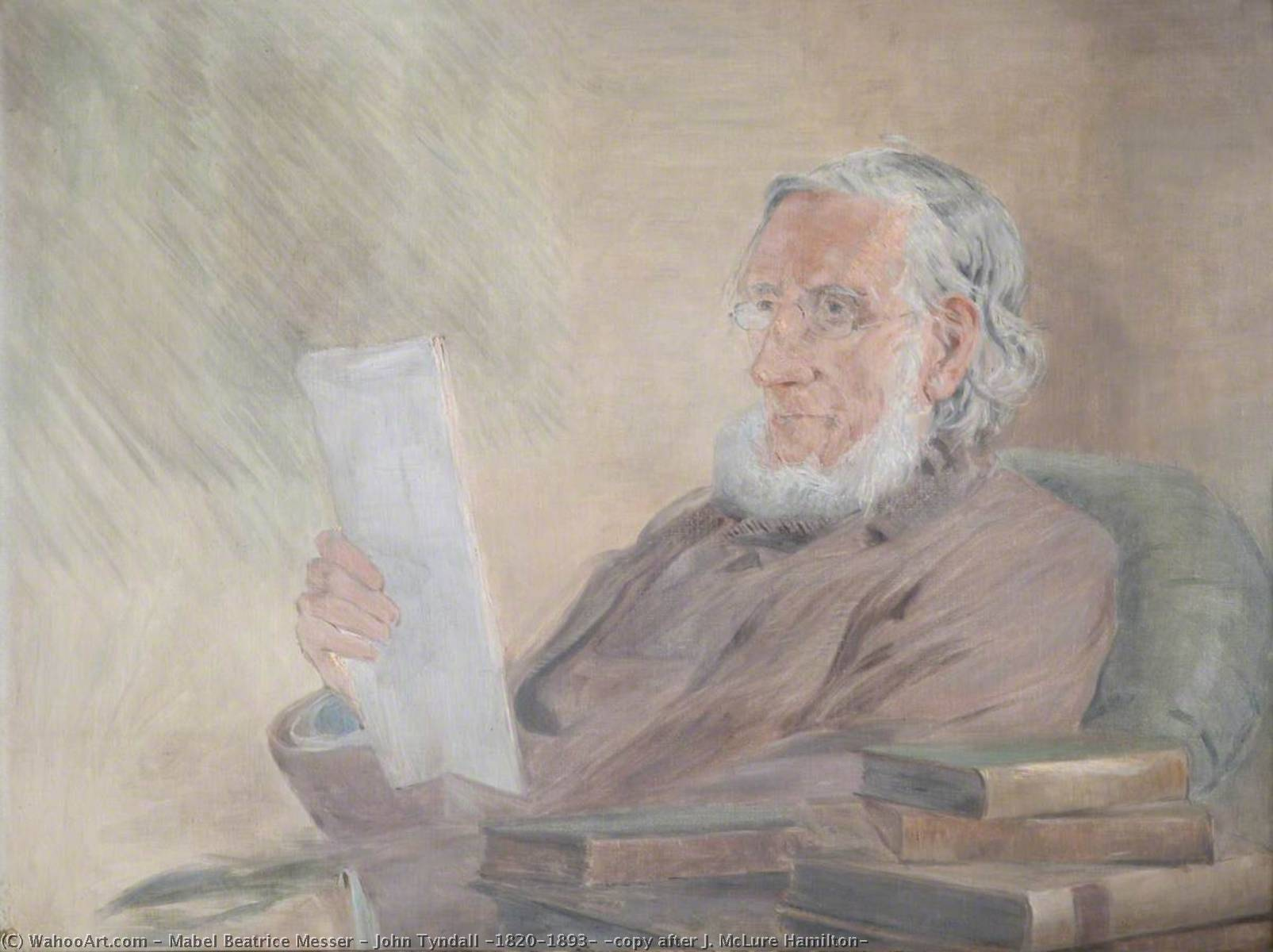 John Tyndall (1820–1893) (copy after J. McLure Hamilton) by Mabel Beatrice Messer | Famous Paintings Reproductions | WahooArt.com