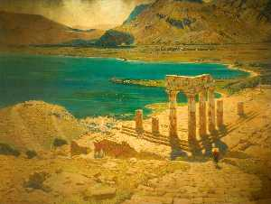 Order Paintings Reproductions | Temple of the Sun, 1914 by Walter J Donne | WahooArt.com
