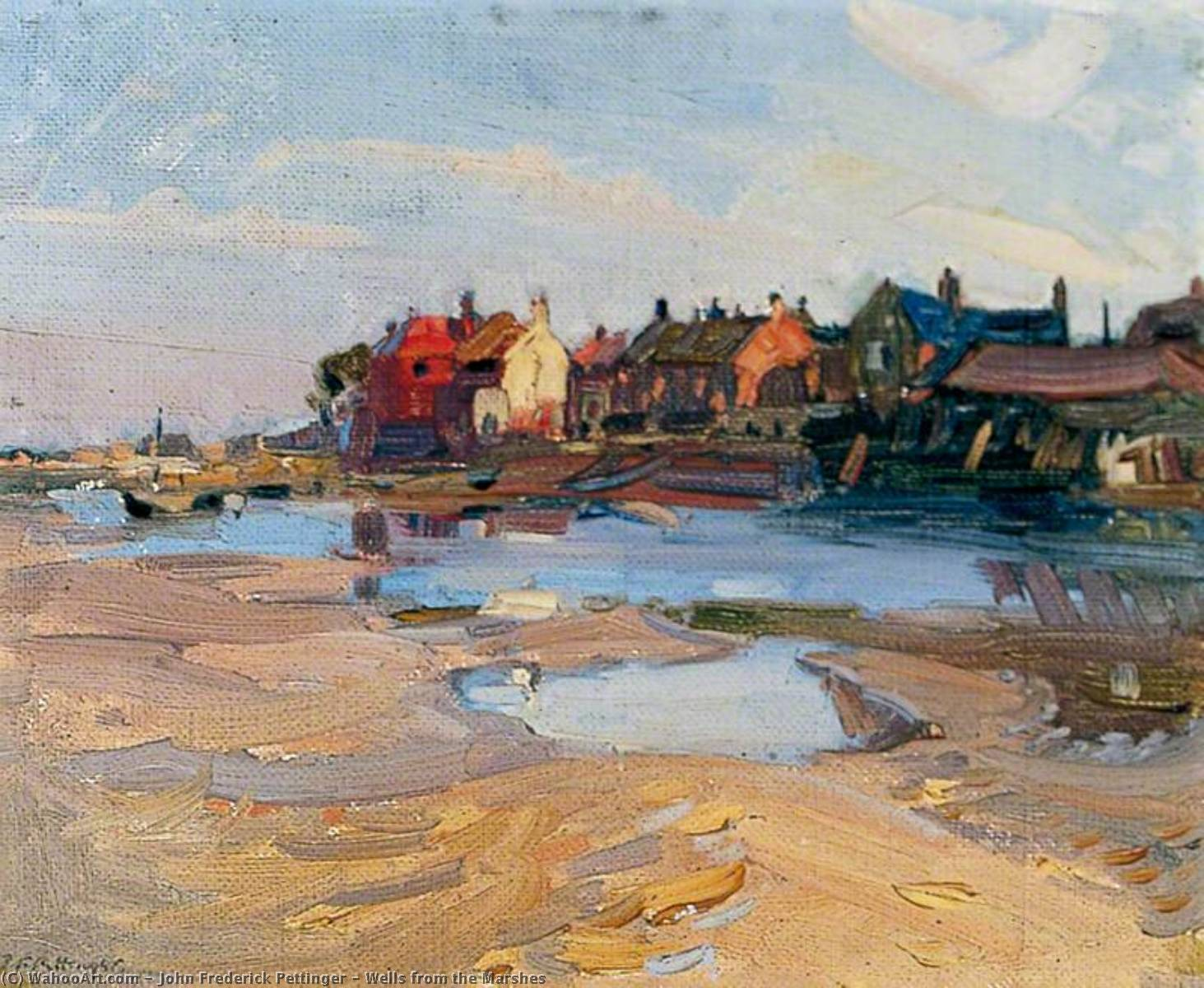 Wells from the Marshes by John Frederick Pettinger | Art Reproduction | WahooArt.com