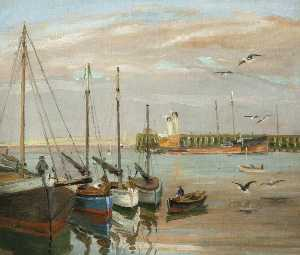 Levi Lumb - Docked Trawlers, Fleetwood