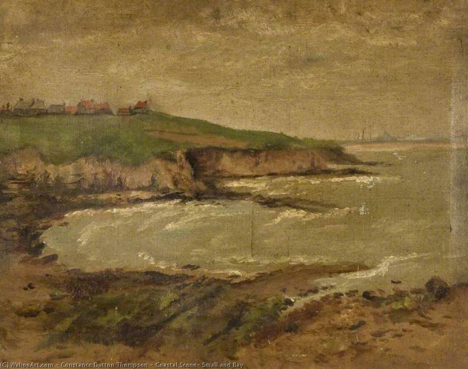 Coastal Scene, Small and Bay, 1908 by Constance Dutton Thompson | Art Reproductions Constance Dutton Thompson | WahooArt.com