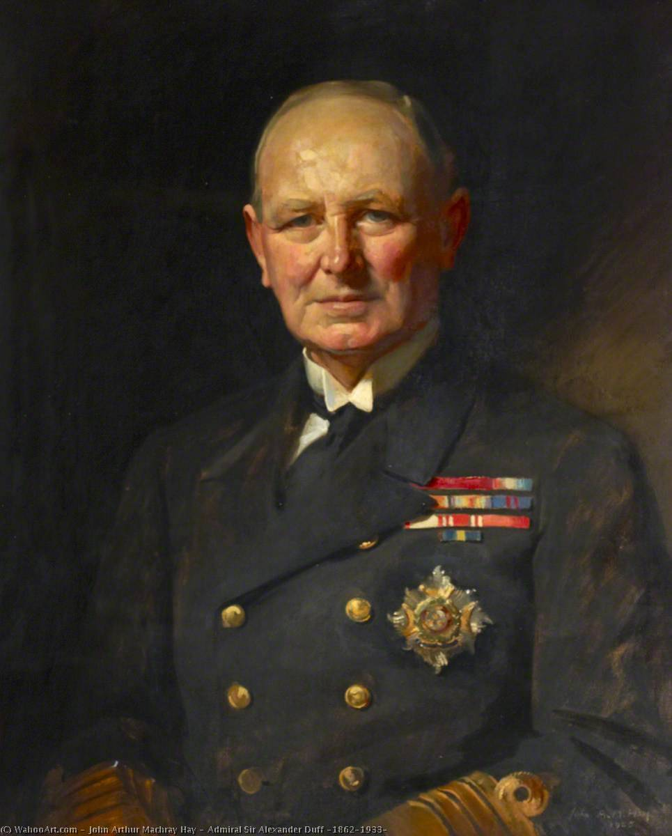 Admiral Sir Alexander Duff (1862–1933), Oil On Canvas by John Arthur Machray Hay
