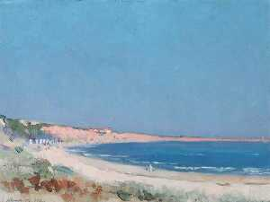 Order Oil Painting : Coastal Scene by John Arthur Machray Hay | WahooArt.com