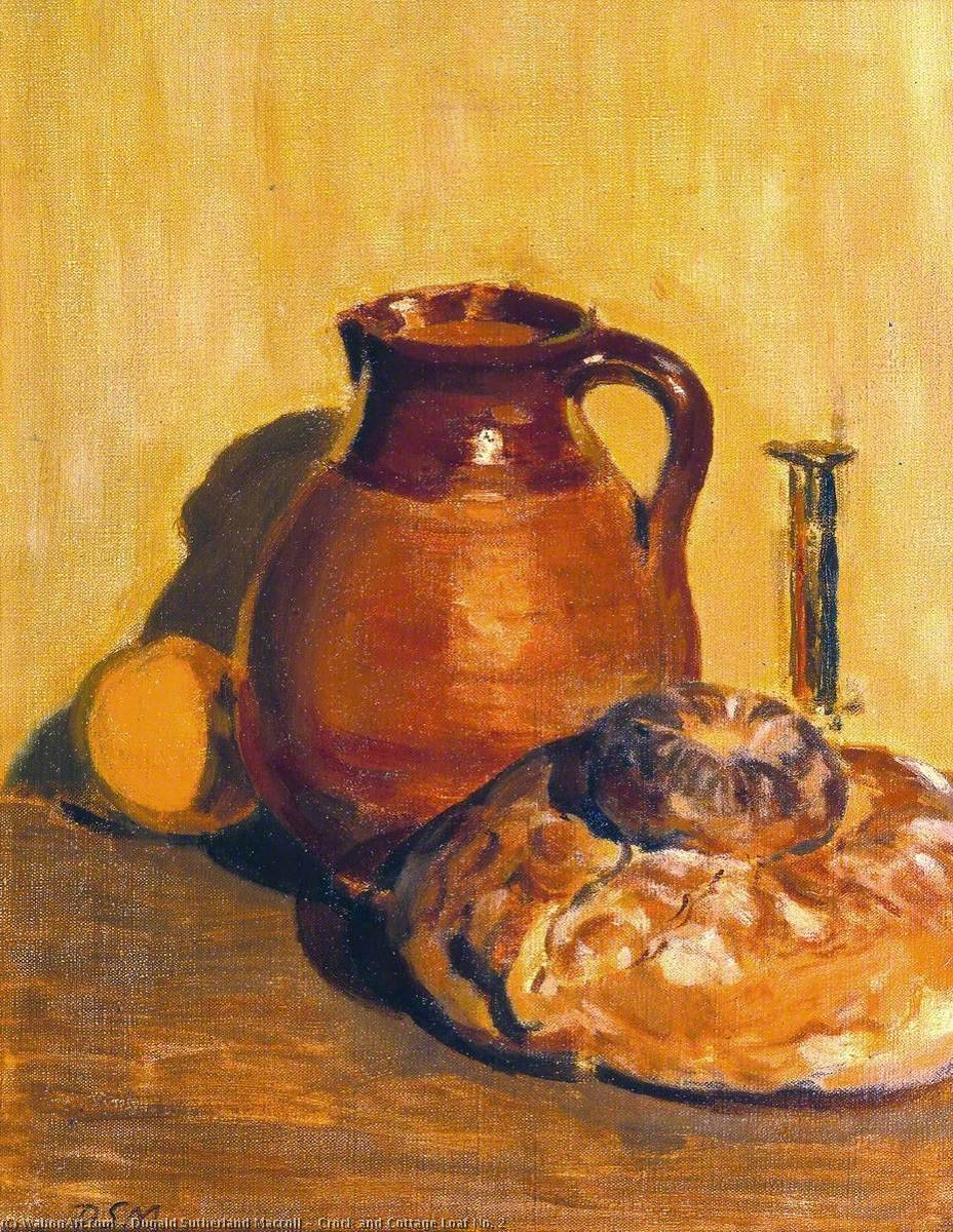 Order Paintings Reproductions | Crock and Cottage Loaf No. 2, 1931 by Dugald Sutherland Maccoll | WahooArt.com