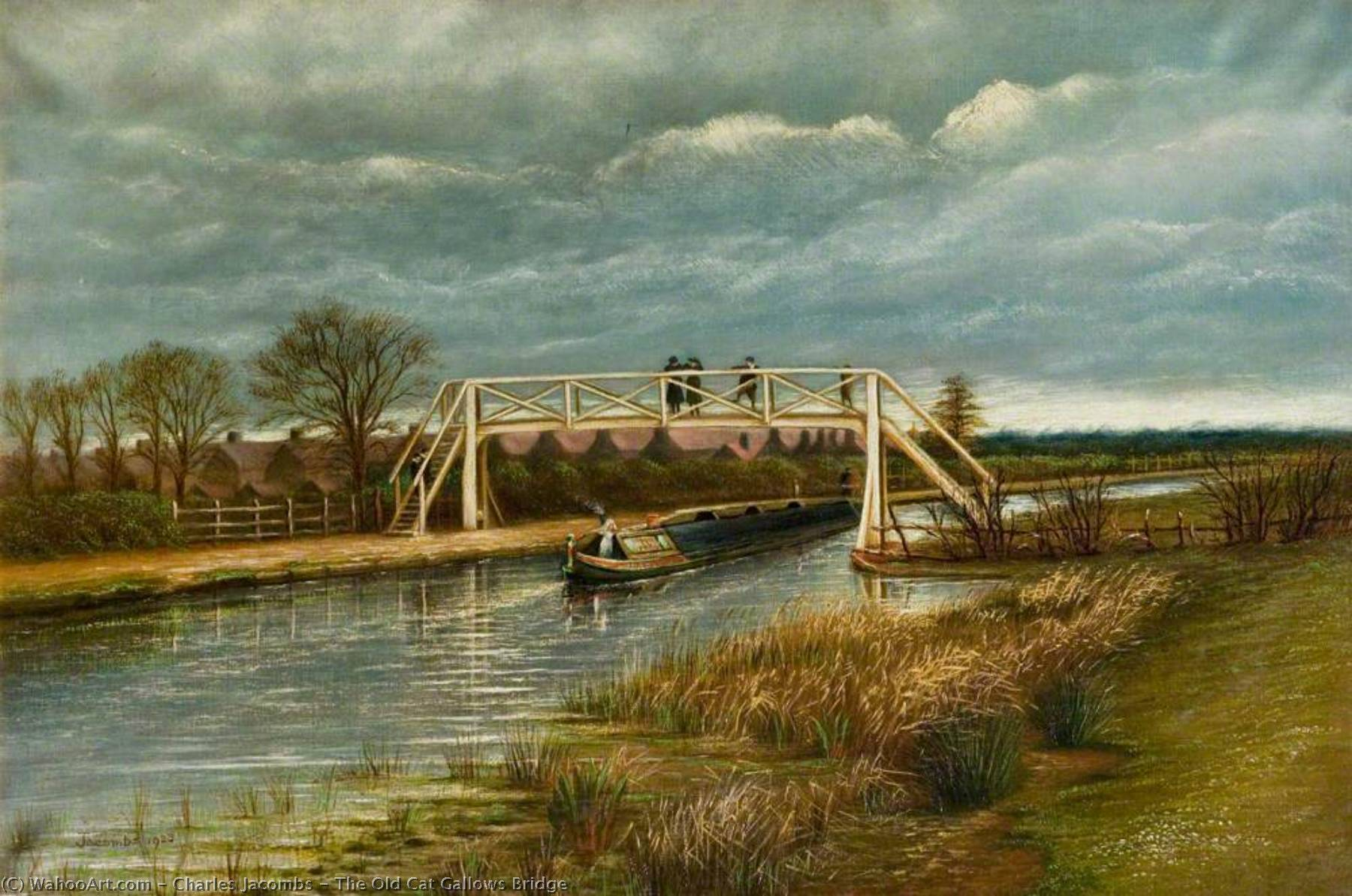The Old Cat Gallows Bridge, 1923 by Charles Jacombs | Art Reproductions Charles Jacombs | WahooArt.com