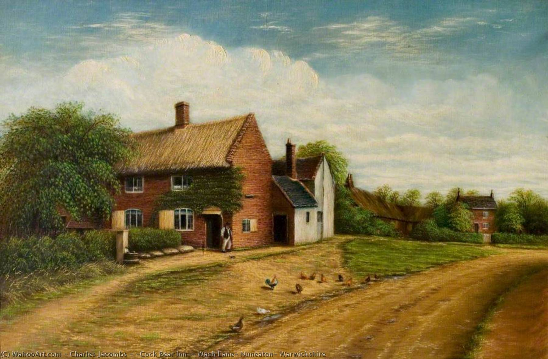Order Museum Quality Copies | `Cock Bear Inn`, Wash Lane, Nuneaton, Warwickshire, 1923 by Charles Jacombs | WahooArt.com