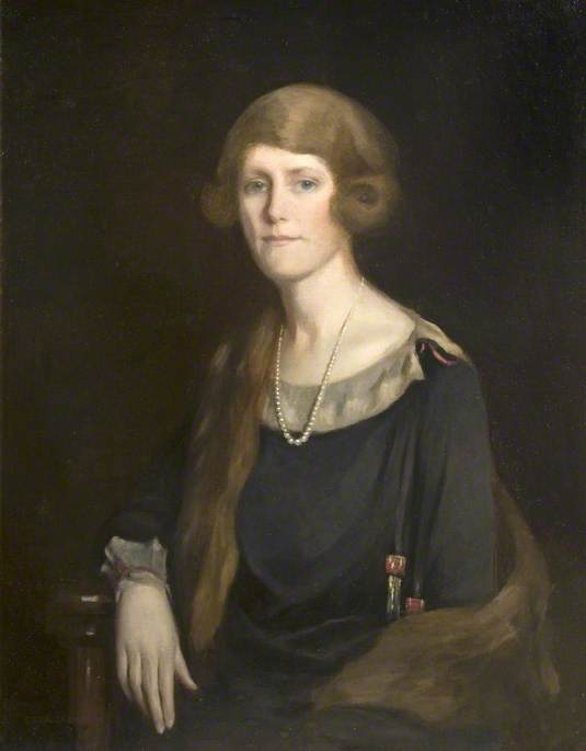 Mrs Olive Pauline Young (d.1973), 1920 by Cecil Stuart Jameson | Reproductions Cecil Stuart Jameson | WahooArt.com