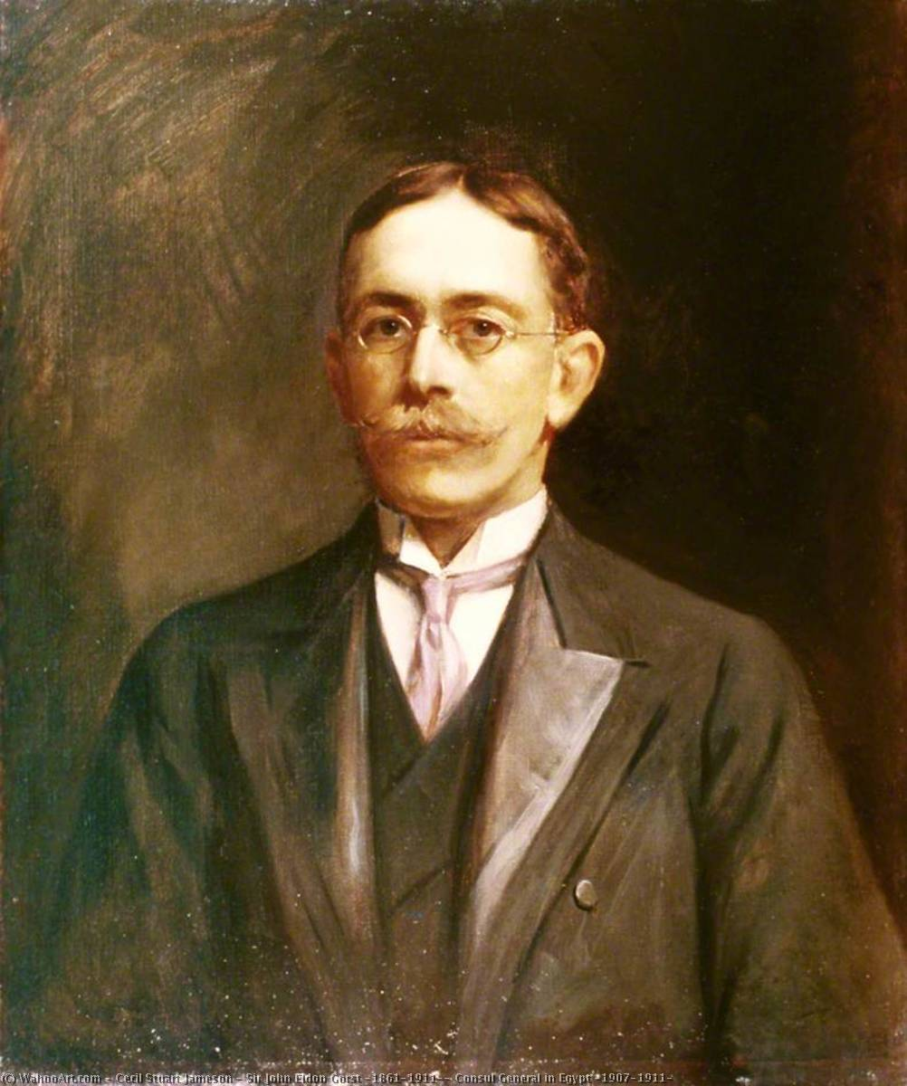 Sir John Eldon Gorst (1861–1911), Consul General in Egypt (1907–1911), Oil On Canvas by Cecil Stuart Jameson