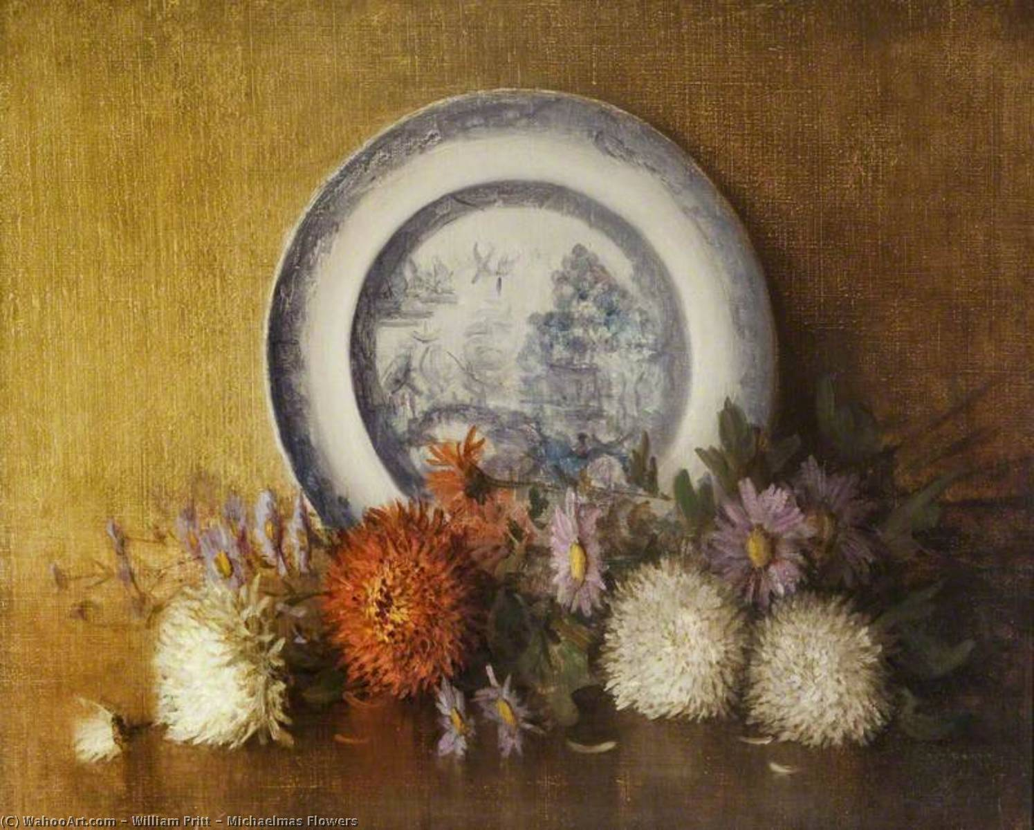 Michaelmas Flowers, 1932 by William Pritt | Painting Copy | WahooArt.com