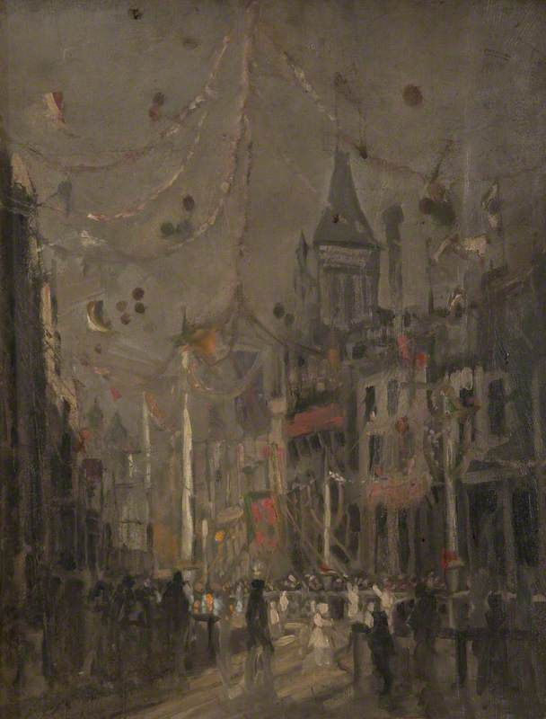 Impression of the 1922 Guild, Oil On Canvas by William Pritt