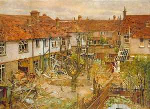 Harry Bush - A Corner of Merton, 16 August 1940