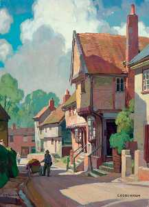 Leonard Squirrell - Suffolk Coddenham (British Railways poster artwork)