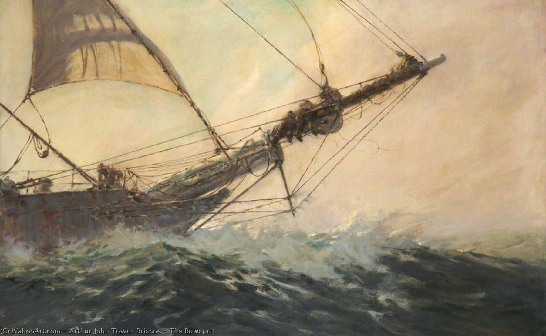 The Bowsprit, Oil On Canvas by Arthur John Trevor Briscoe (order Fine Art hand made painting Arthur John Trevor Briscoe)