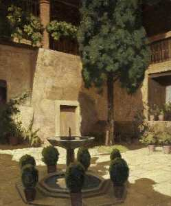 Victor Wellesley - Courtyard at the Alhambra, Spain
