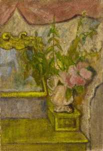 Thelma Hulbert - Dressing Table and Flowers