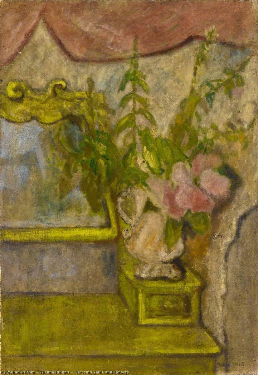 Order Reproductions | Dressing Table and Flowers, 1939 by Thelma Hulbert | WahooArt.com