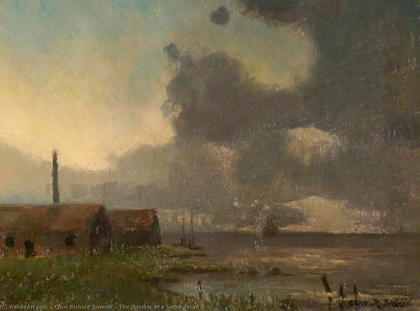 The Humber in a Sullen Mood by Clive Richard Browne | Painting Copy | WahooArt.com