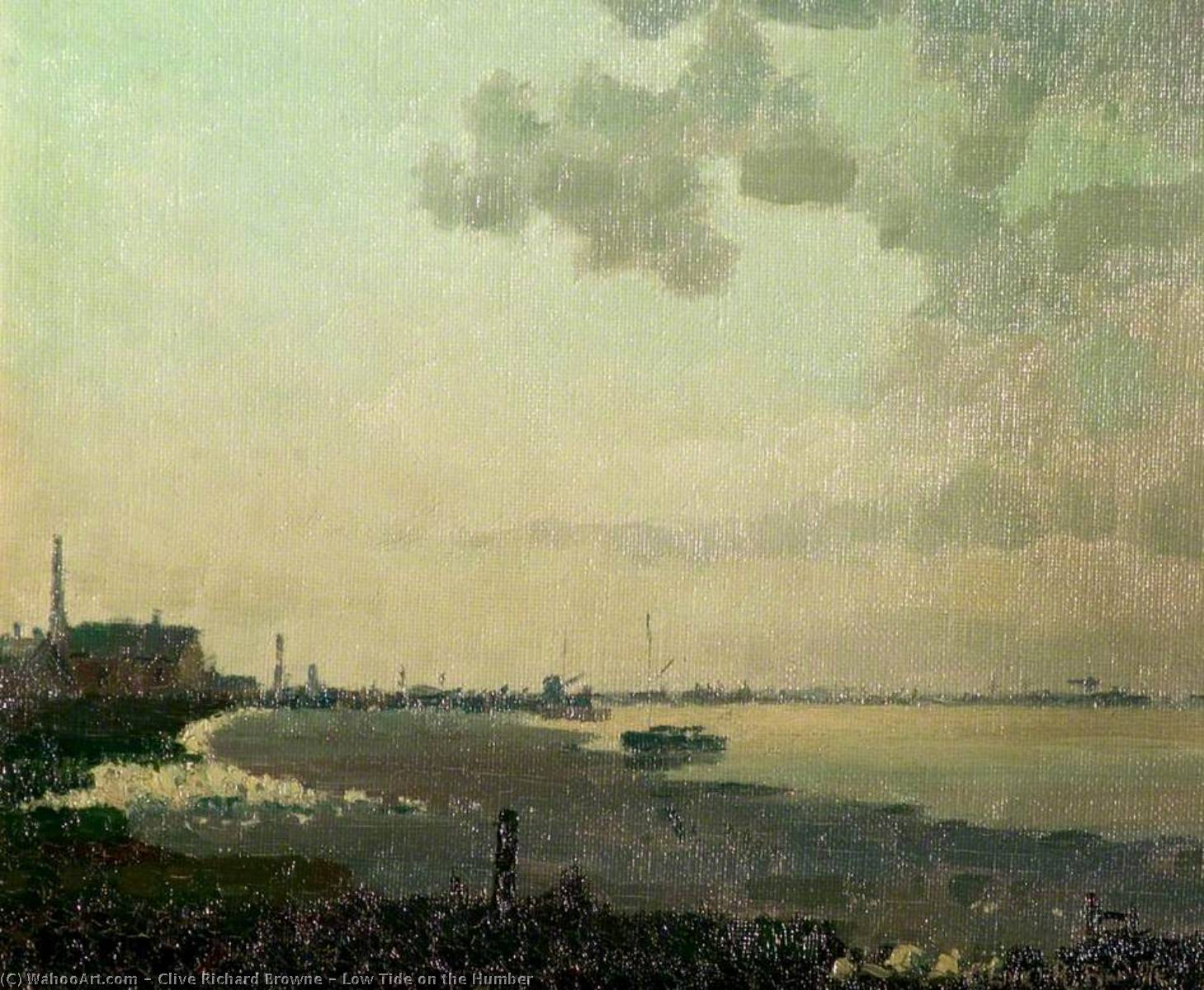 Low Tide on the Humber by Clive Richard Browne | Oil Painting | WahooArt.com