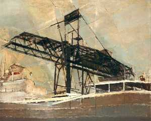 Buy Museum Art Reproductions | Bidston Dock, Wirral by George Anthony Butler | WahooArt.com