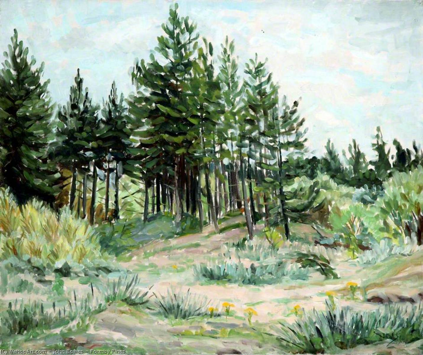 Formby Pines, Oil On Canvas by John Bowes