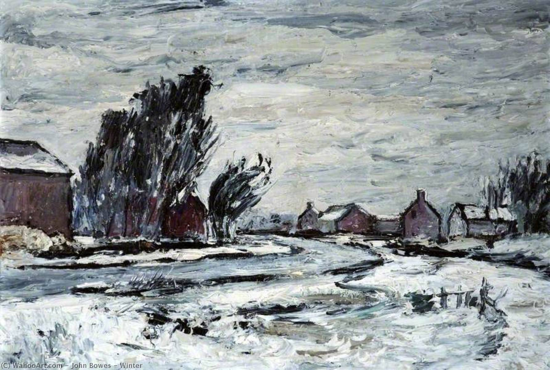 Winter, Oil On Canvas by John Bowes