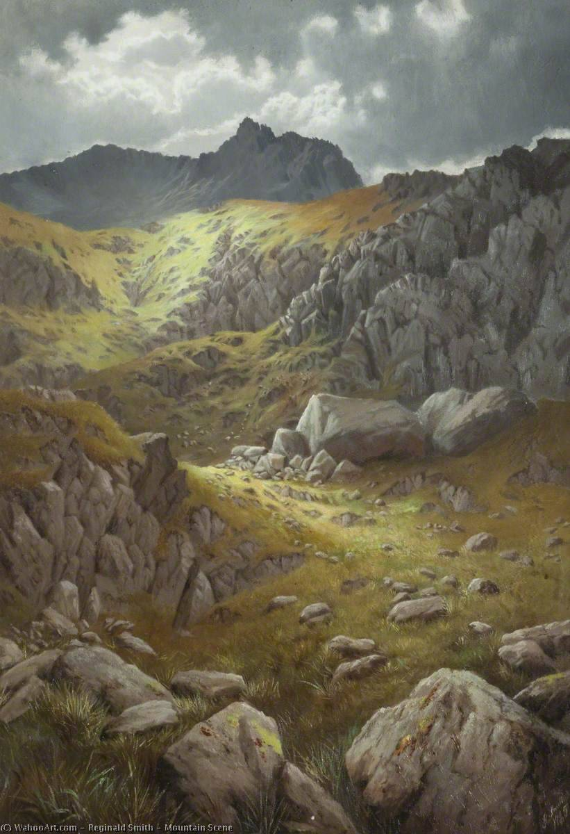Buy Museum Art Reproductions | Mountain Scene by Reginald Smith | WahooArt.com