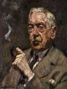 Order Art Reproductions | Portrait of Mr F. W. H. (Frederick W. Hull, 1867–1953), 1935 by Paul Nietsche | WahooArt.com