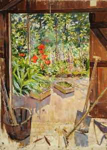 Frank Grant Faed - Garden Space