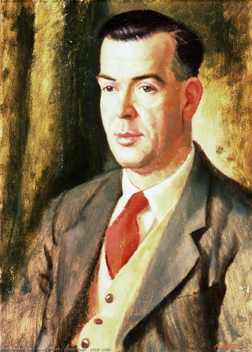 Arthur Pugh (1910–1986), Oil On Canvas by Scott Nisbet