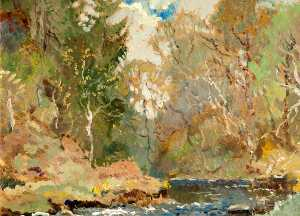 Eric Thornton Prehn - Trees and River