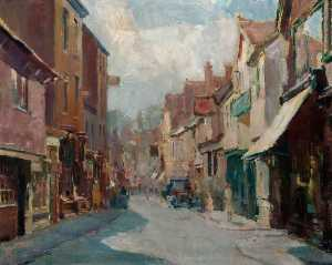 Theodore Charles Basil Hitchcock - Street in Hitchin