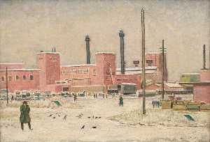Walter Stevens Cole - Our Factory in Winter