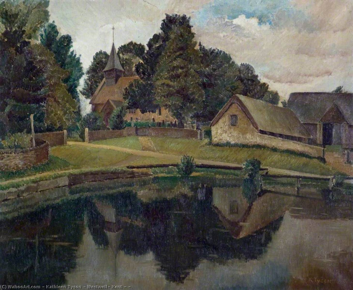 Westwell, Kent ( ) by Kathleen Tyson | Museum Quality Reproductions | WahooArt.com
