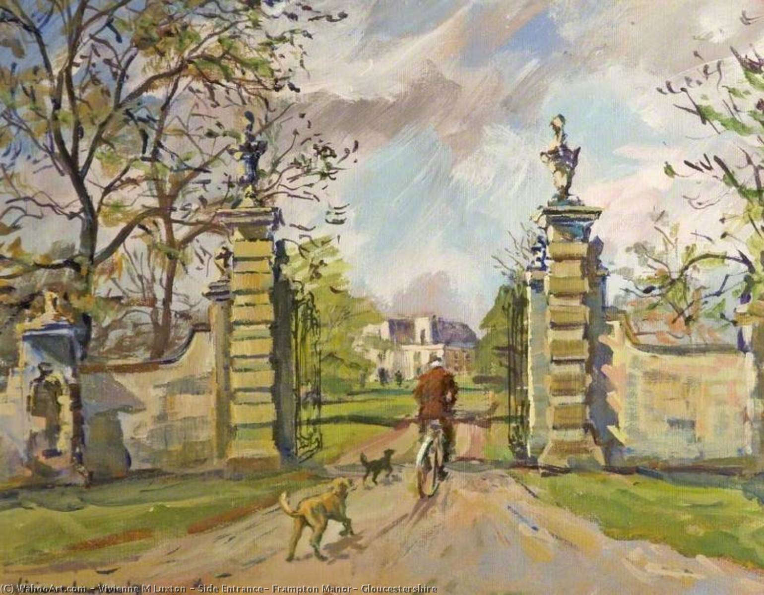 Side Entrance, Frampton Manor, Gloucestershire, 1991 by Vivienne M Luxton | Museum Quality Reproductions | WahooArt.com