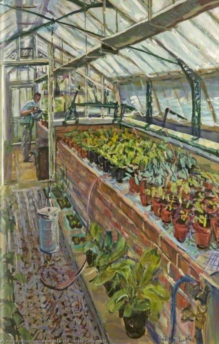 In the Greenhouse by Vivienne M Luxton | Oil Painting | WahooArt.com