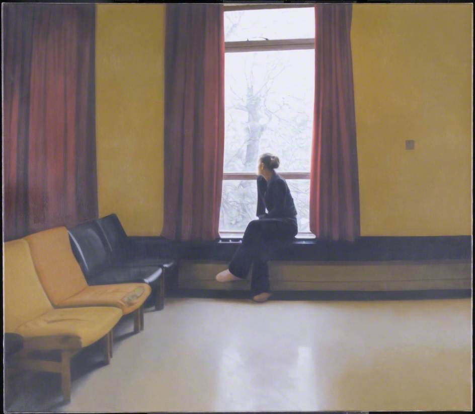 Woman at a Window 2, Oil by Paul Winstanley