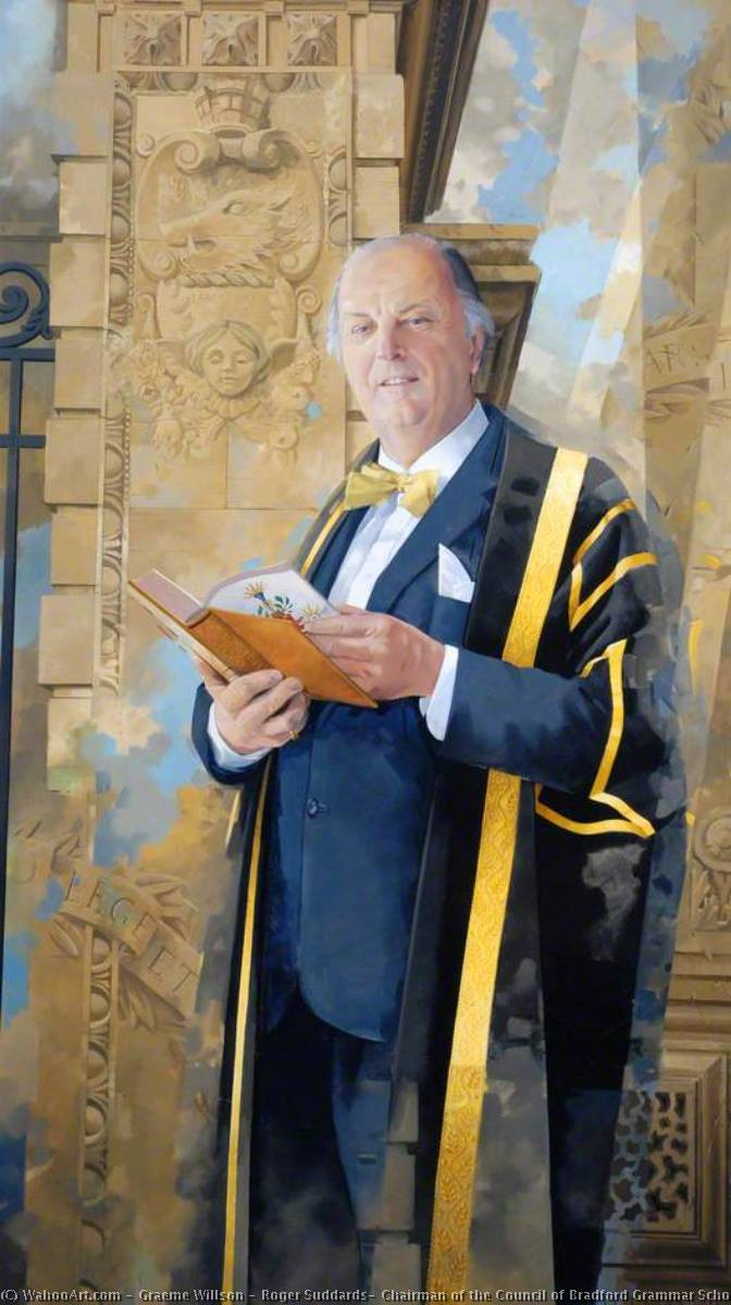 Roger Suddards, Chairman of the Council of Bradford Grammar School (1987–1992), 1993 by Graeme Willson | WahooArt.com