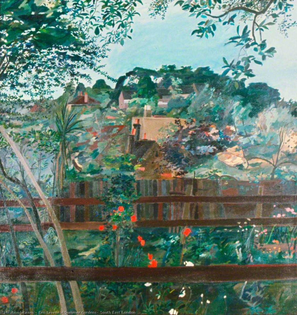 Summer Gardens, South East London, Oil On Canvas by Ben Levene