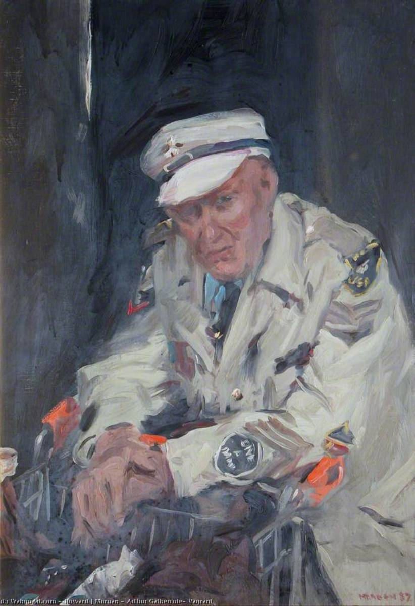 Arthur Gathercole, Vagrant, Oil On Canvas by Howard J Morgan