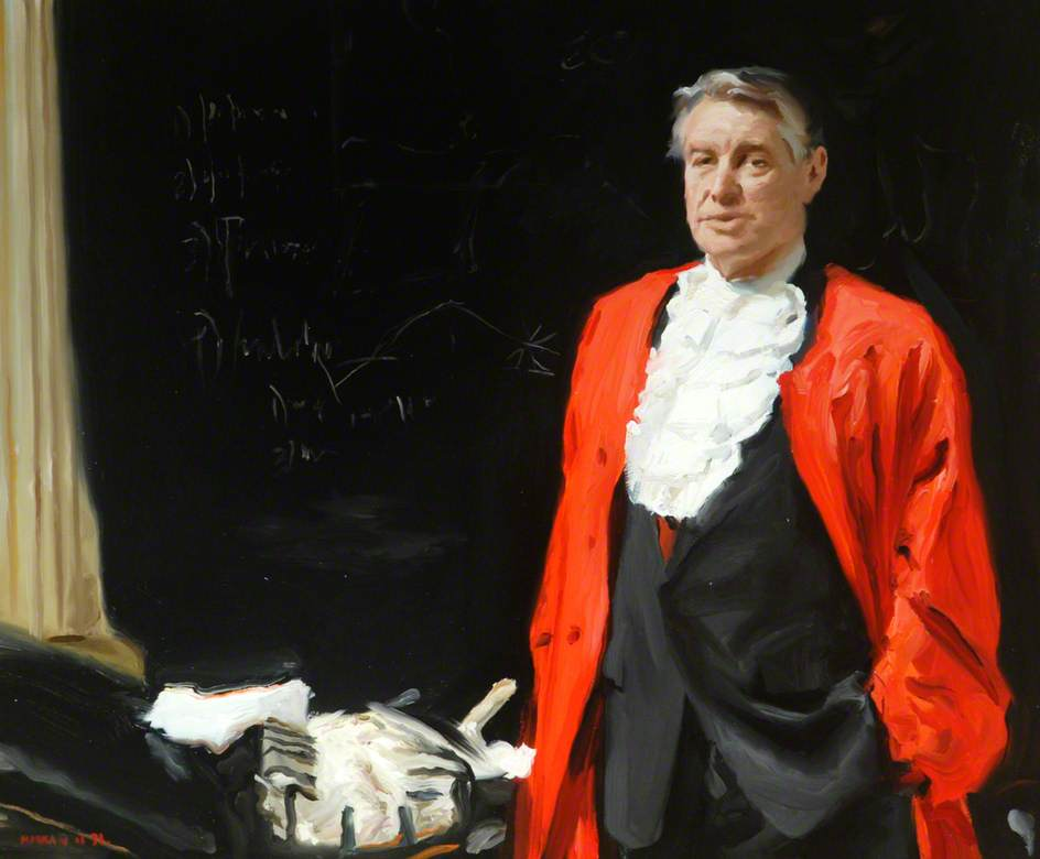 Professor Laurence Martin, Vice Chancellor, University of Newcastle upon Tyne (1978–1990), Oil On Canvas by Howard J Morgan
