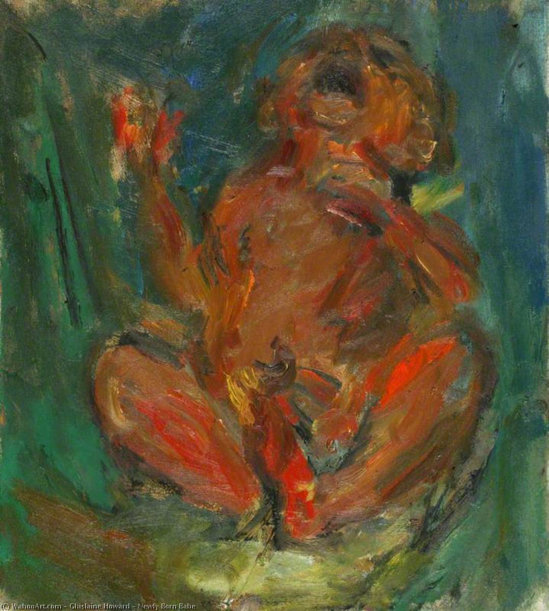 Newly Born Babe, 1993 by Ghislaine Howard | Museum Quality Reproductions | WahooArt.com