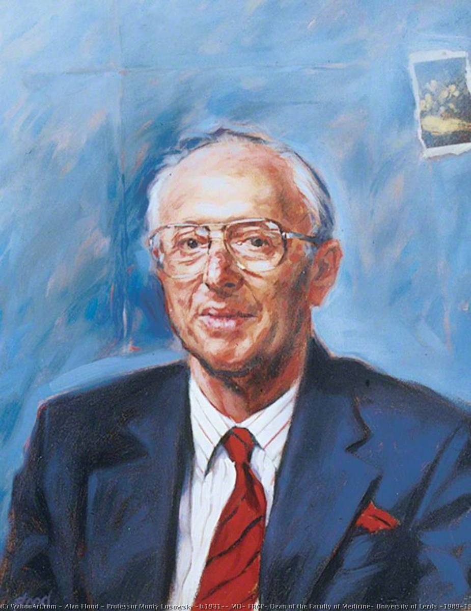 Order Art Reproductions | Professor Monty Losowsky (b.1931), MD, FRCP, Dean of the Faculty of Medicine, University of Leeds (1989–1994), 1994 by Alan Flood | WahooArt.com