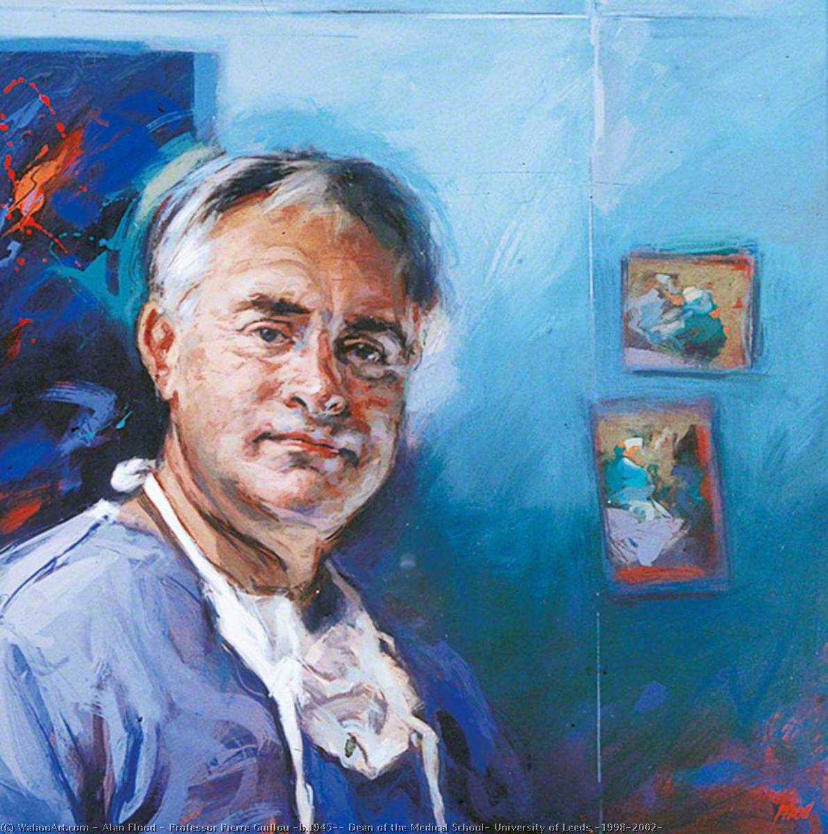 Professor Pierre Guillou (b.1945), Dean of the Medical School, University of Leeds (1998–2002), Oil On Canvas by Alan Flood
