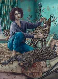 Order Reproductions | Cat`s Cradle, 1995 by Sally Moore | WahooArt.com