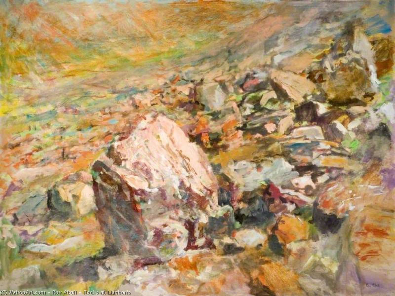 Rocks at Llanberis, 1996 by Roy Abell | Oil Painting | WahooArt.com