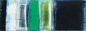 Gillian Lever - Composition Emerald (diptych, right panel)