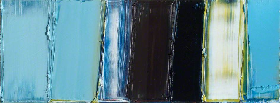 Order Oil Painting : Cerulean Blues (diptych, left panel), 2005 by Gillian Lever | WahooArt.com